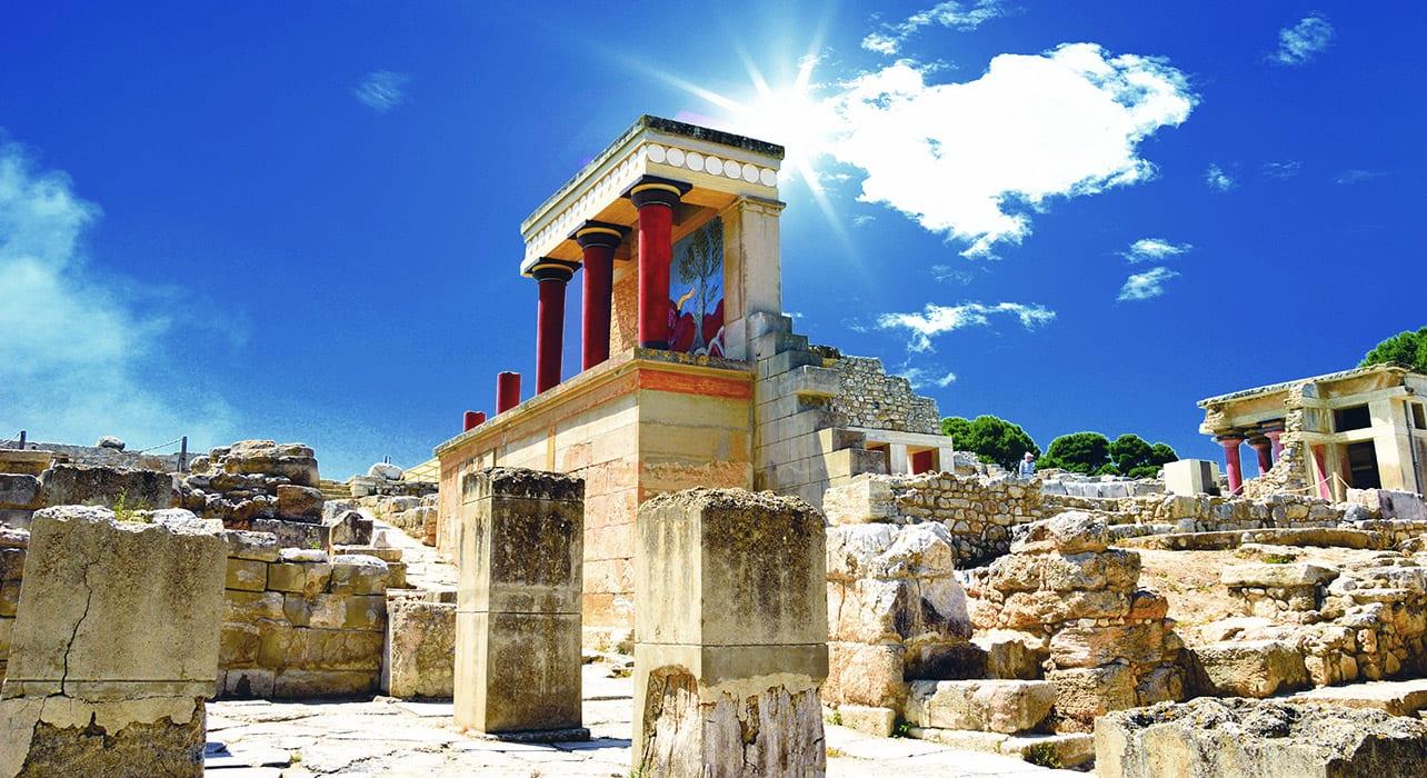 greece crete knossos historic ruins