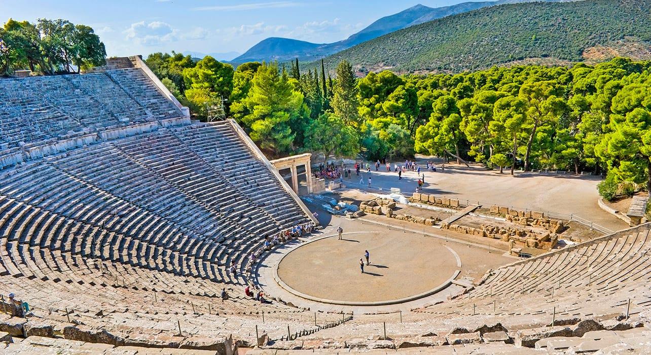 epidavros greece amphitheatre ruins