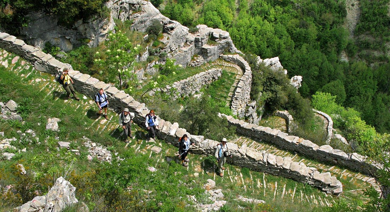 greece zagoria hikers