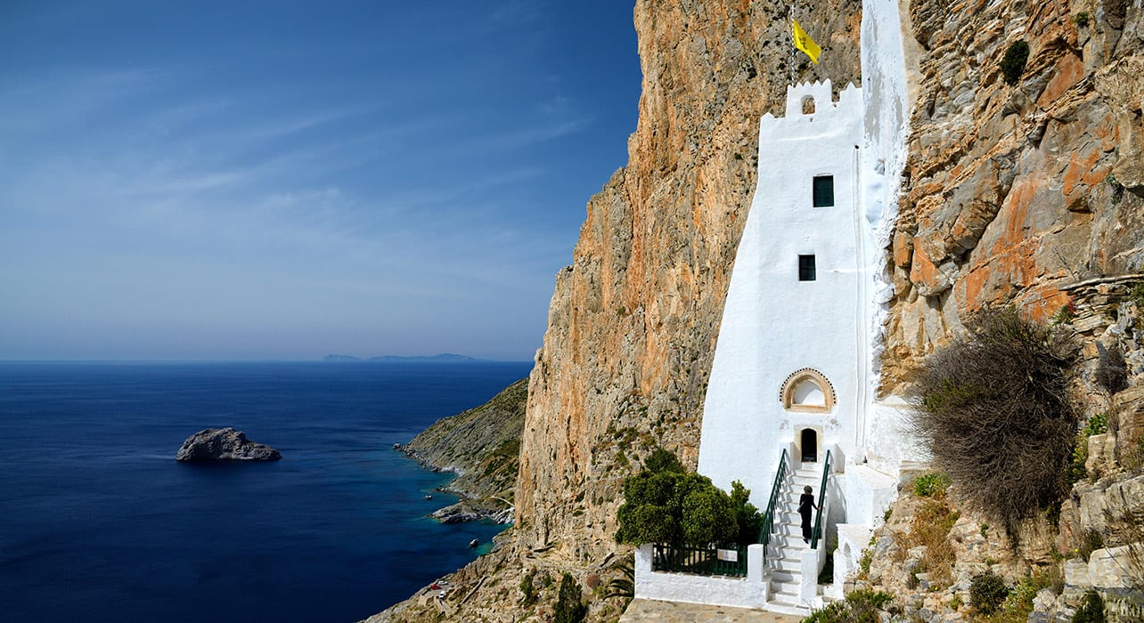 amorgos island monastery of panagia greece