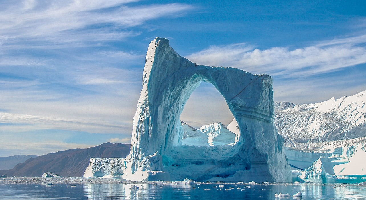 greenland iceberg snow