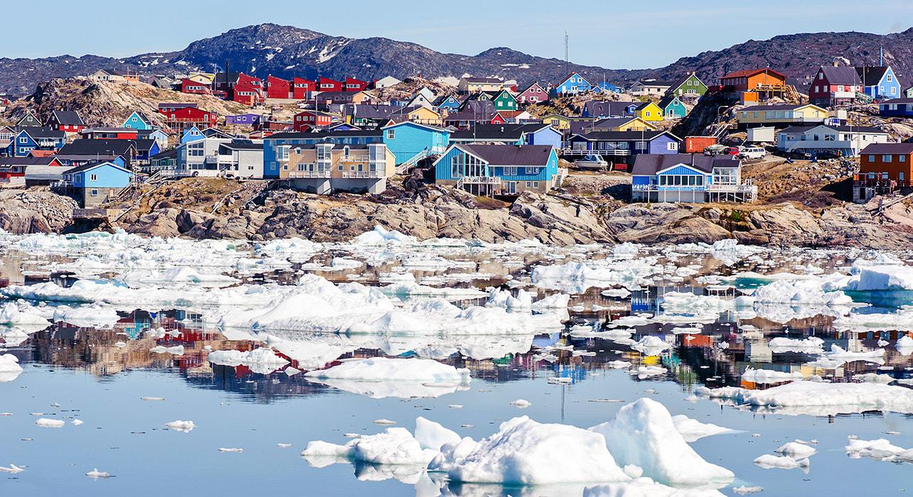 greenland ilulissat town icebergs