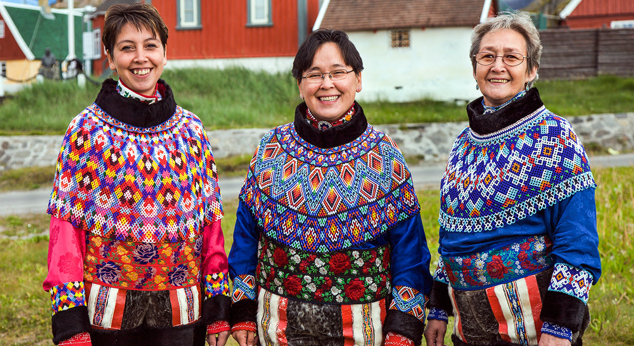 greenland traditional sweaters women costumes