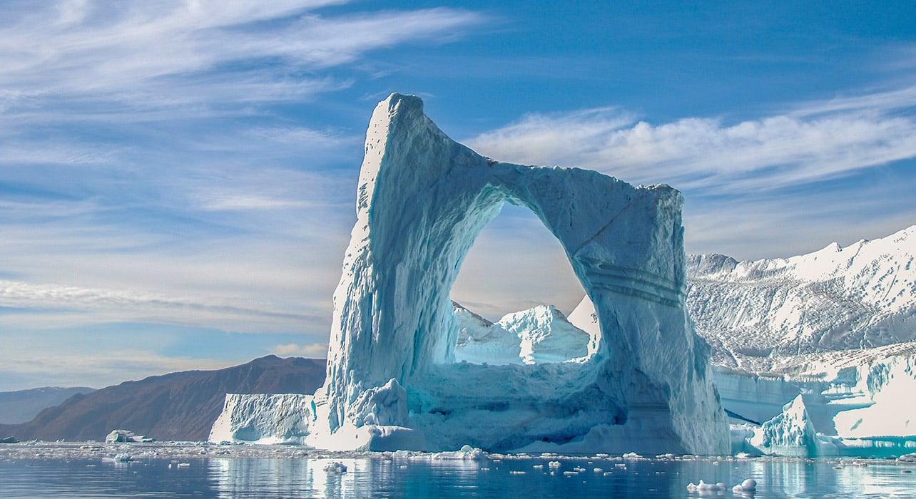 greenland fjord iceburg