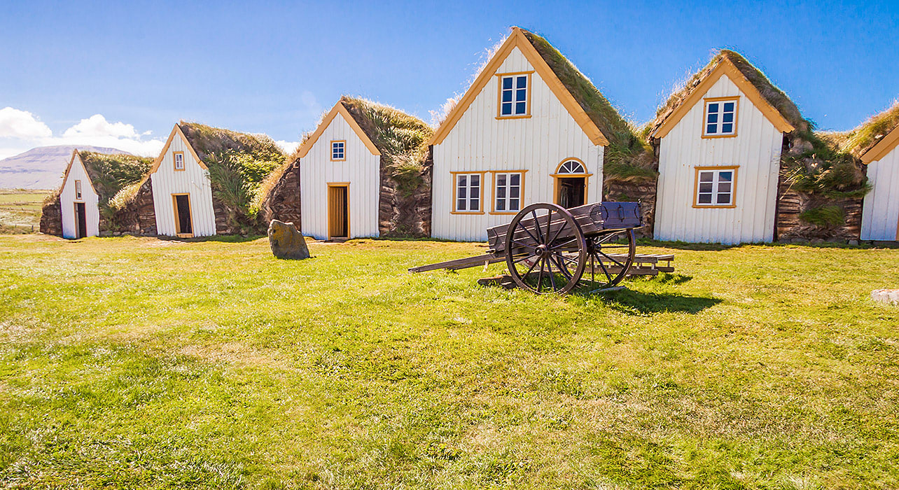 iceland thatched cottages