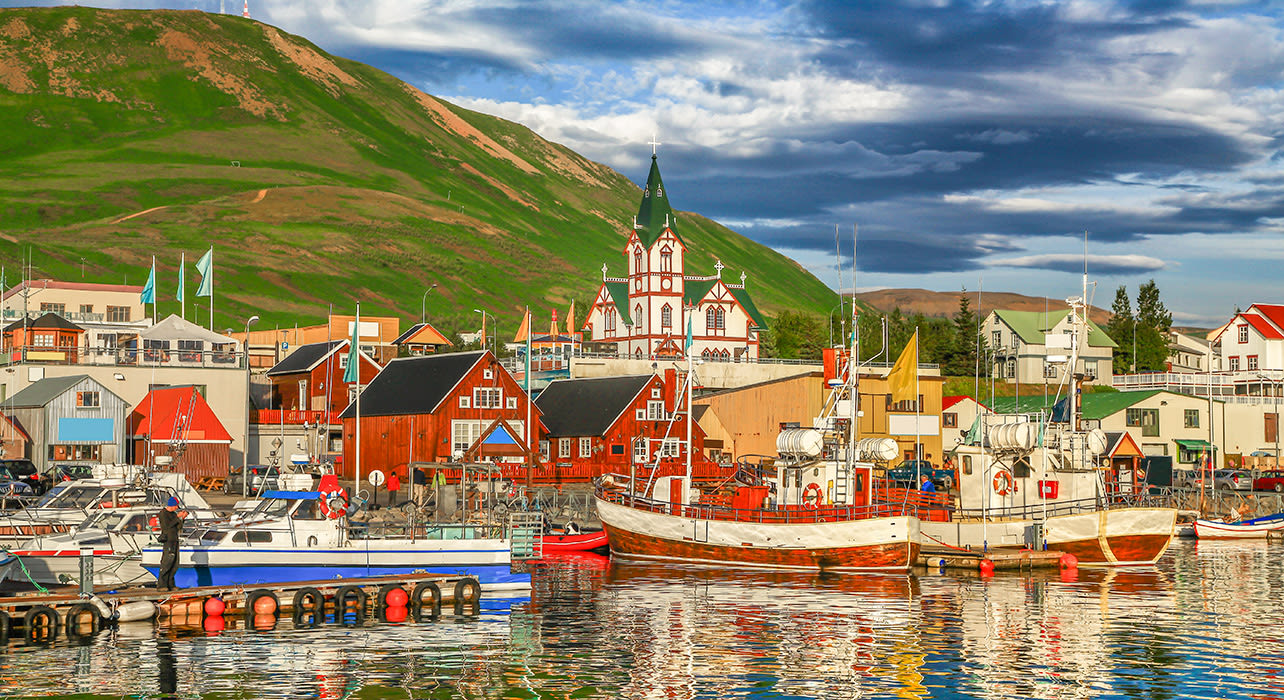 northern iceland husavik harbor