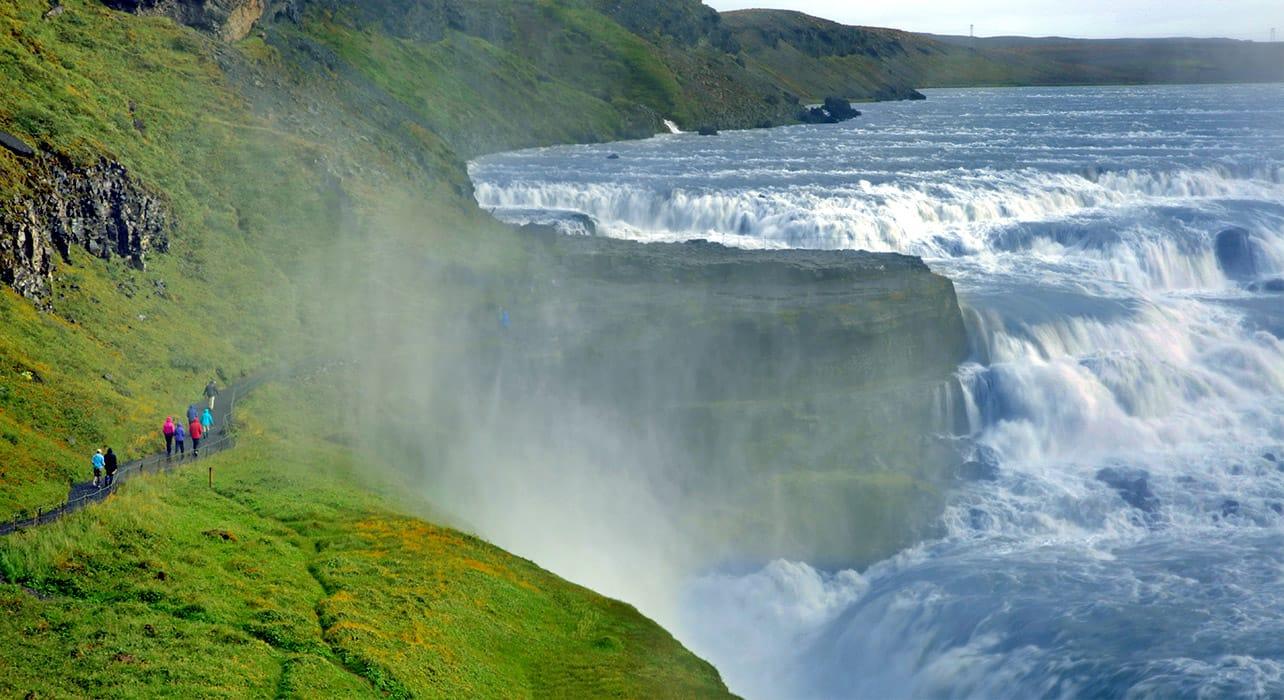 iceland gullfoss waterfalls