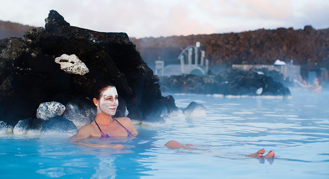 iceland woman thermal bath