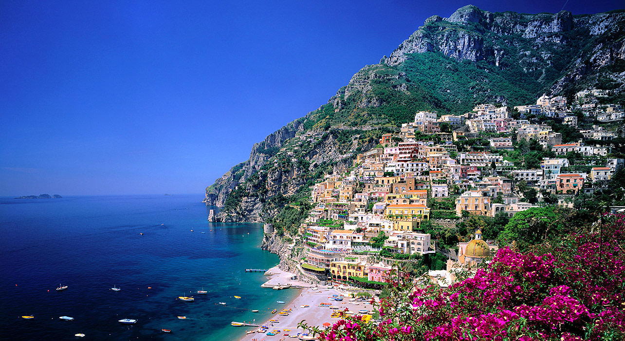 italy capri amalfi coast hill side