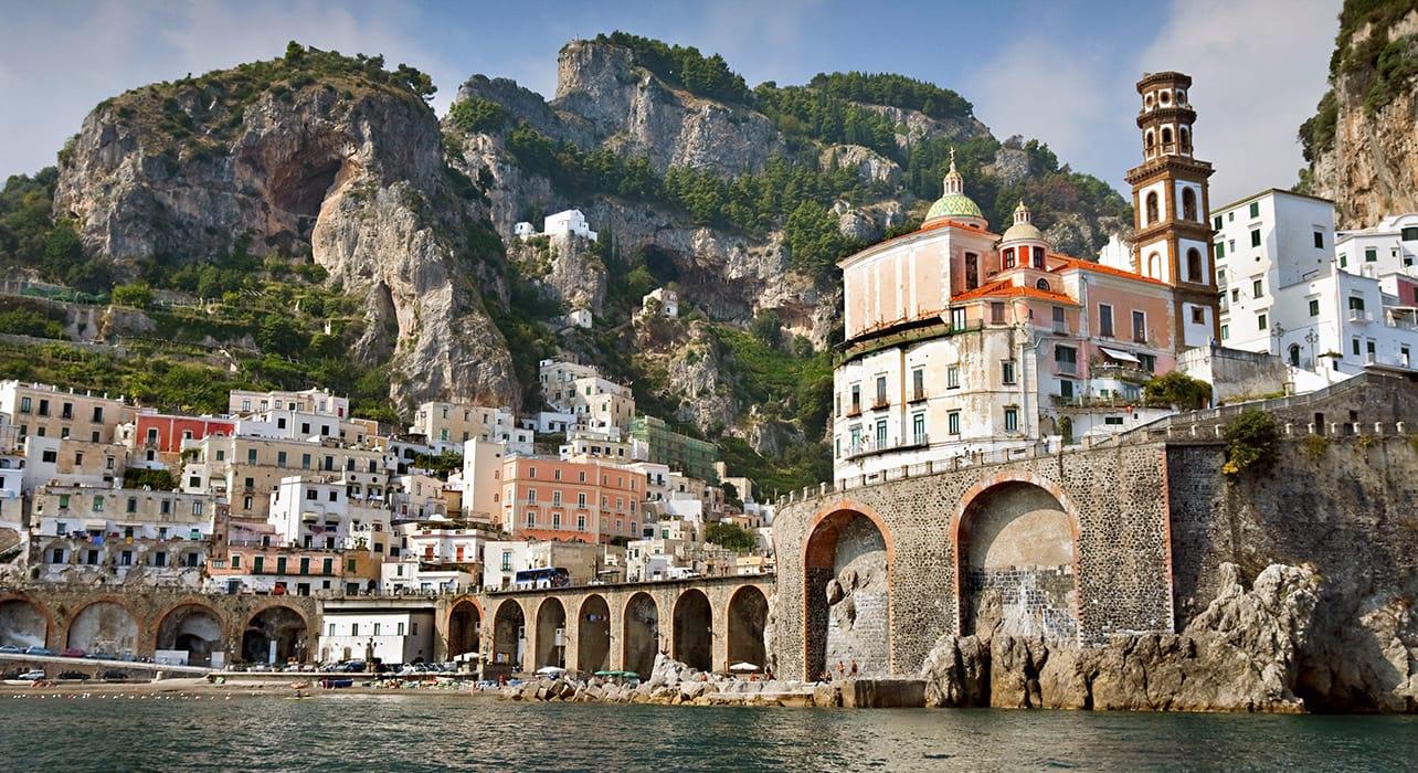 italy amalfi coastine town