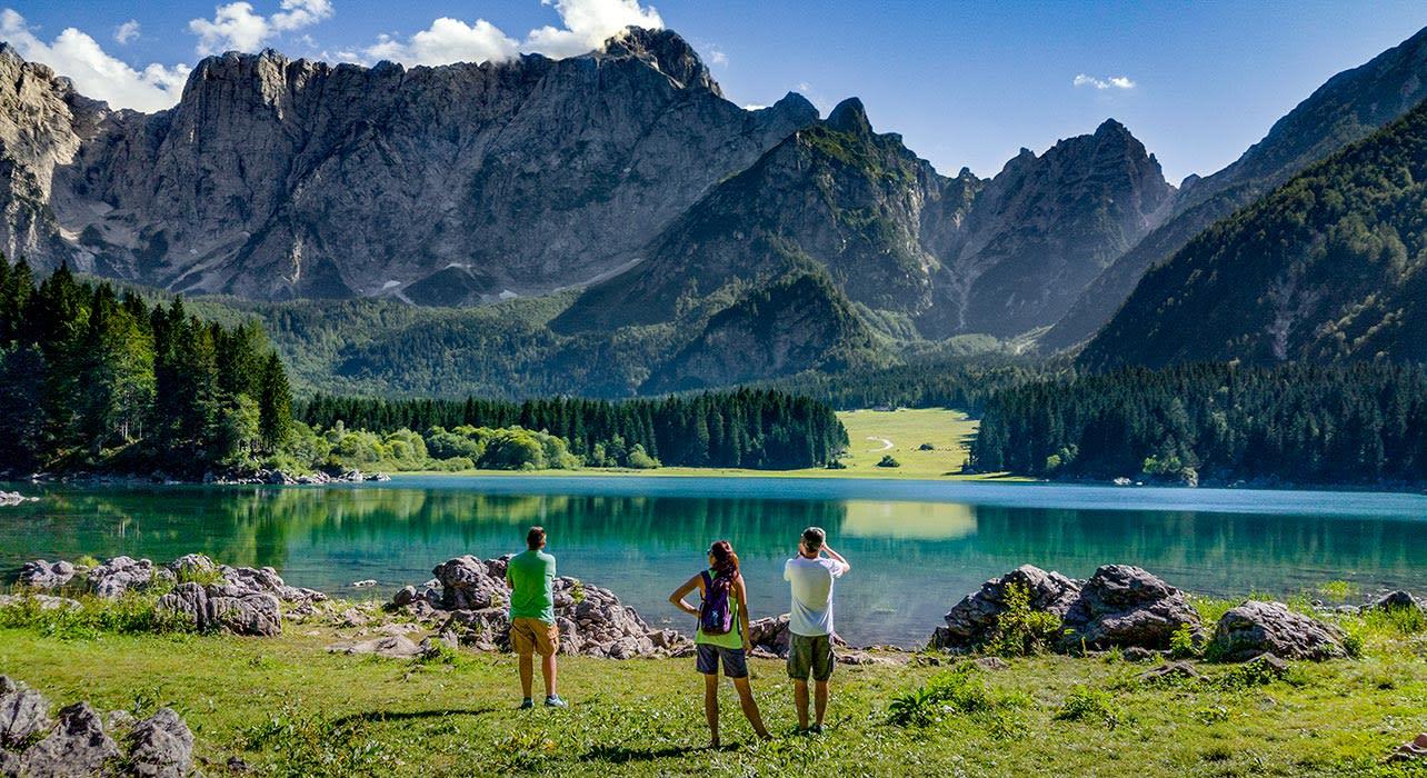 italy fuglia alps lake fusine