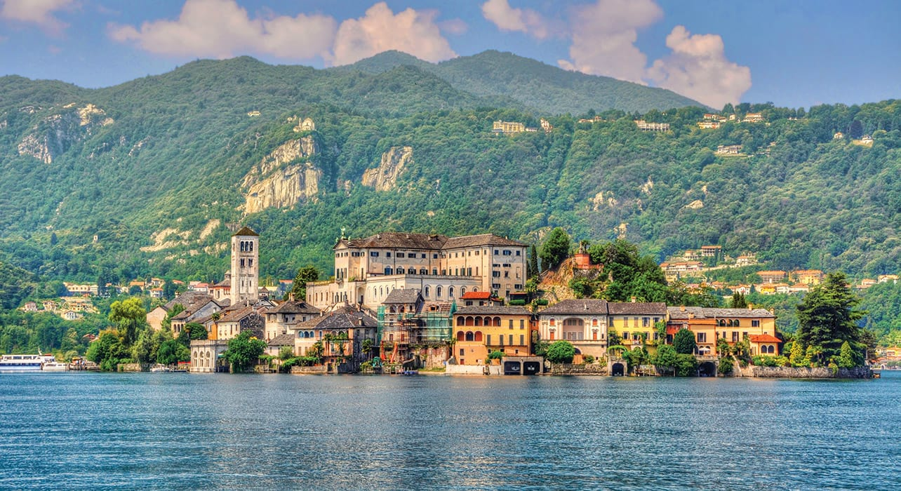 northern italy lake island town