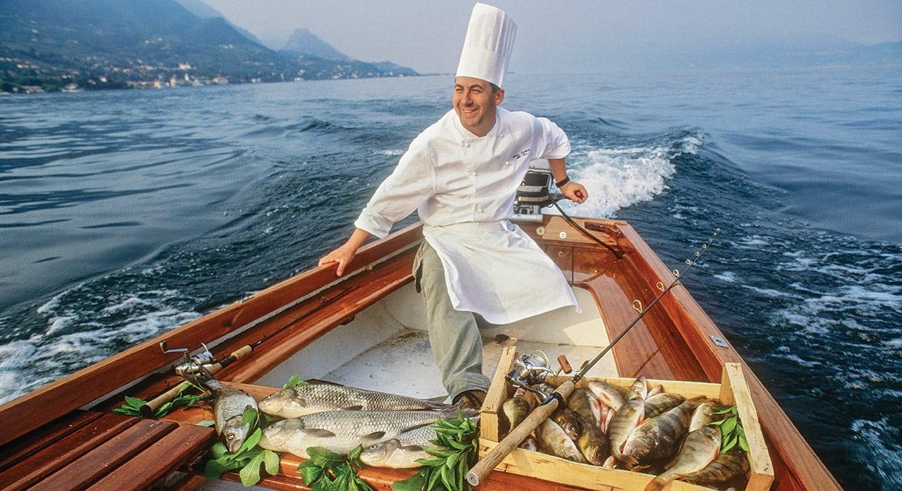 italy garda lake chef fish