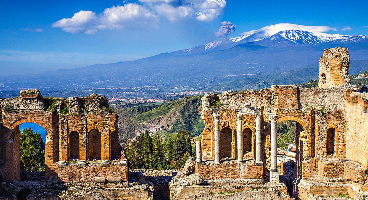 sicily taormina ruins