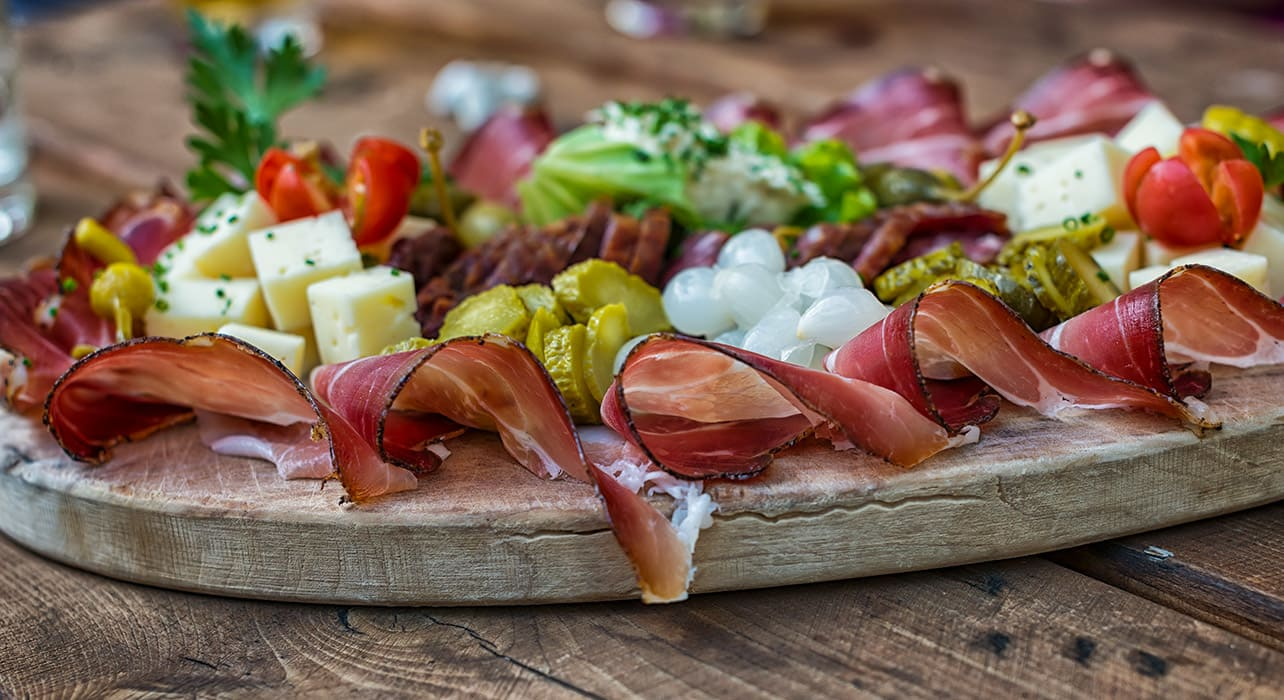 alpine food platter speck cheese