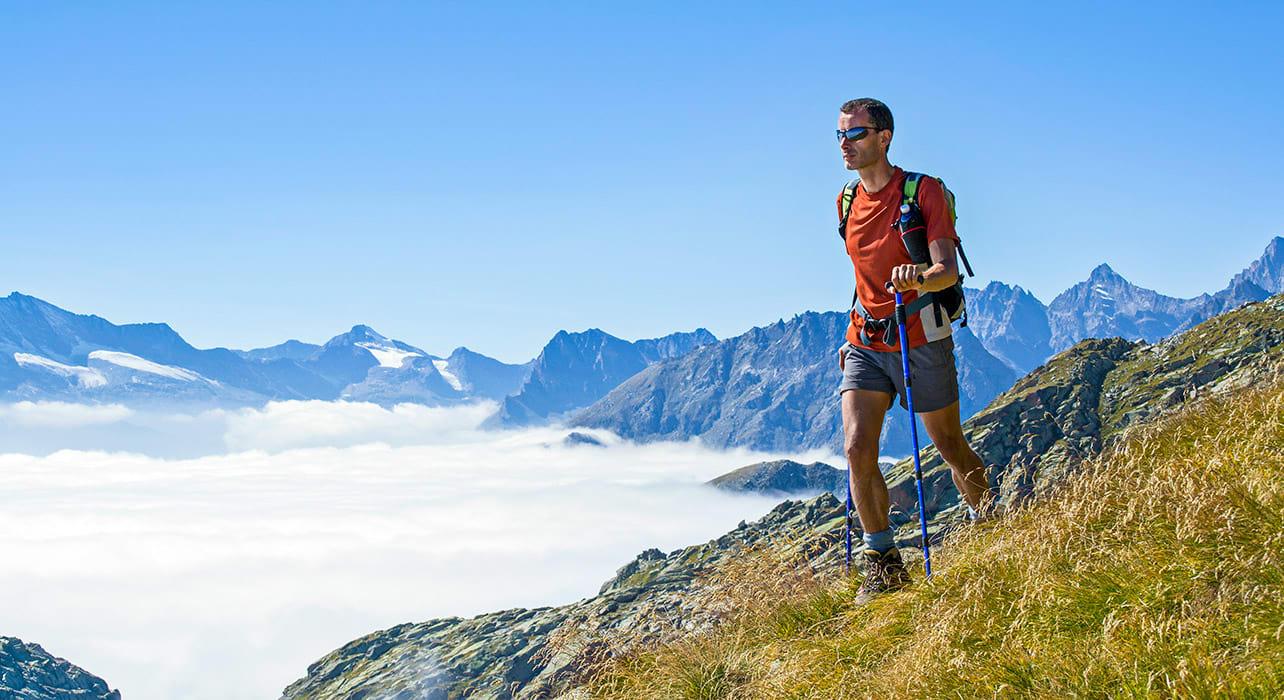 italy gran paradiso natl park alpine hiker
