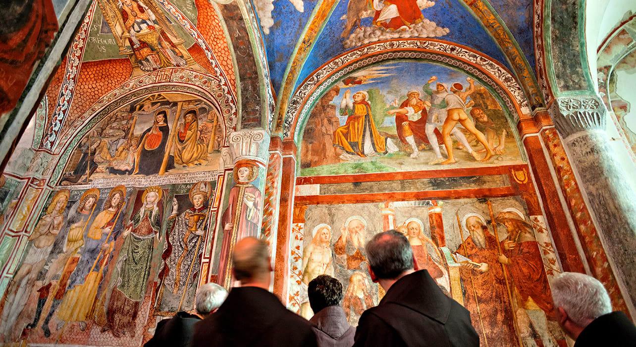 italy lake orta church fresco