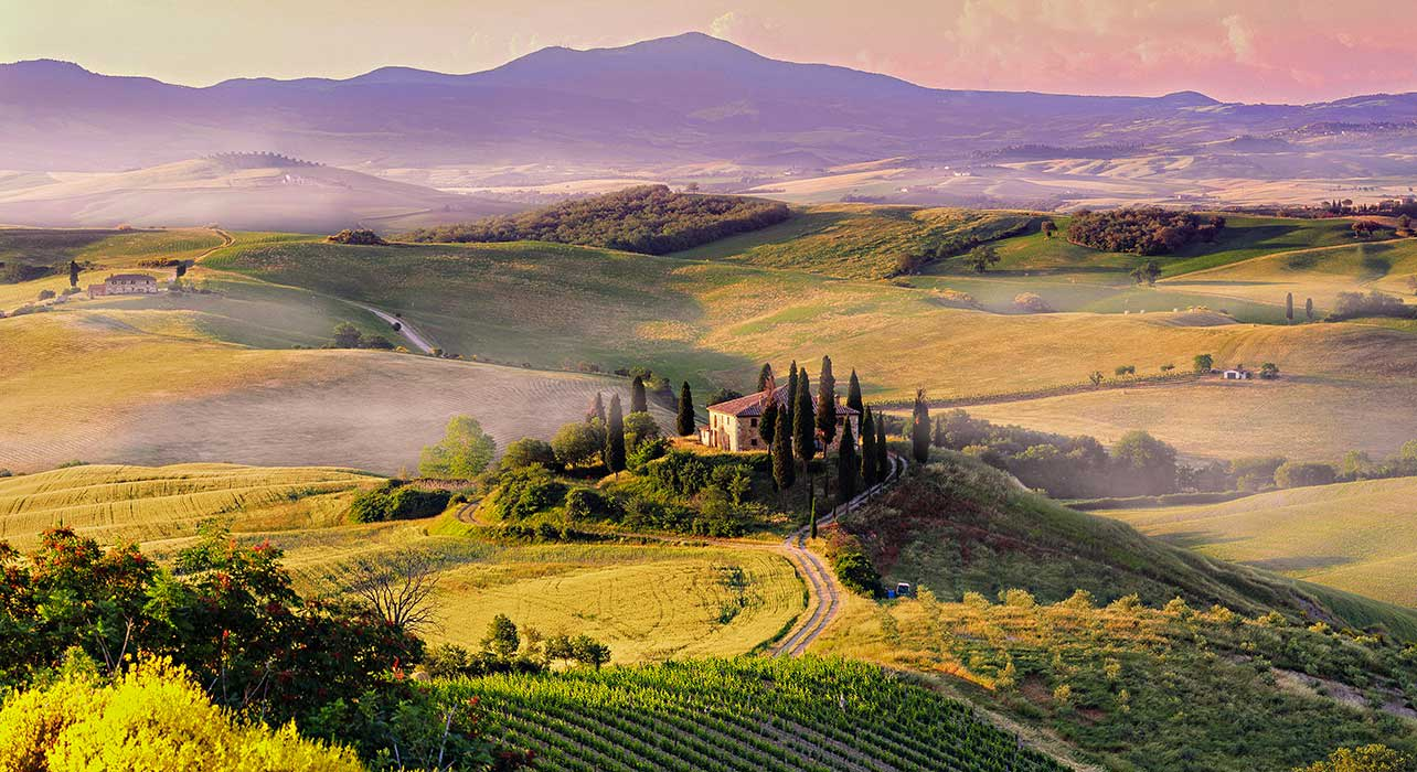 1 slide italy san quirico tuscany pano