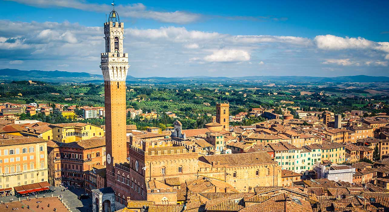 italy siena clock tower