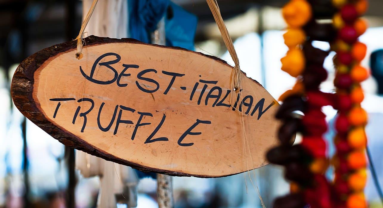 italy barolo truffle sign