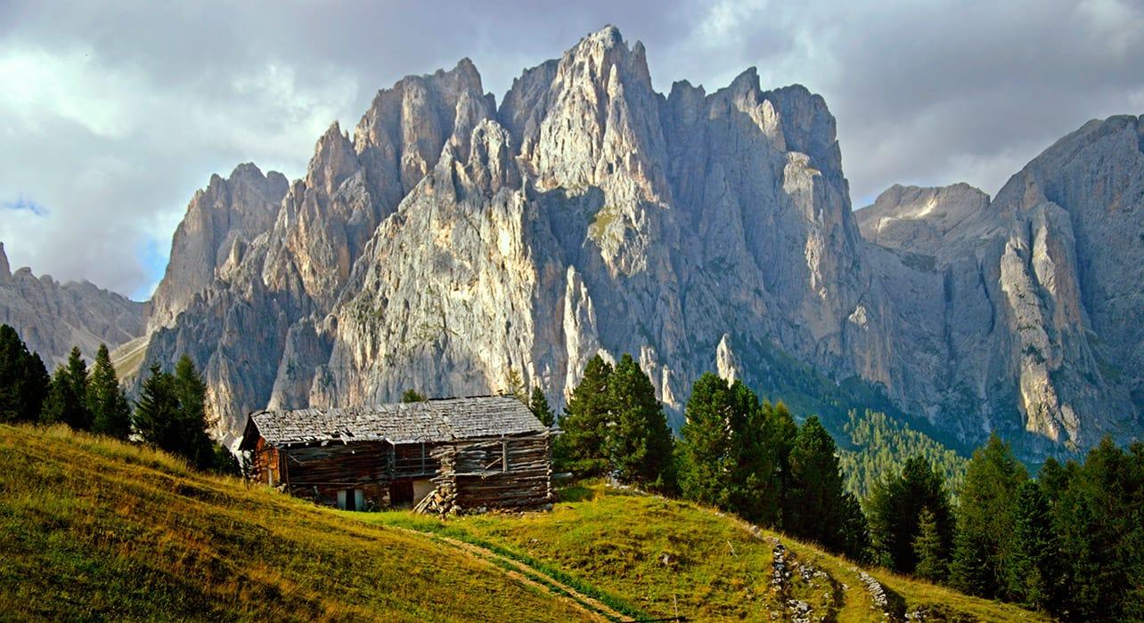 dolomites rosengarten house hut