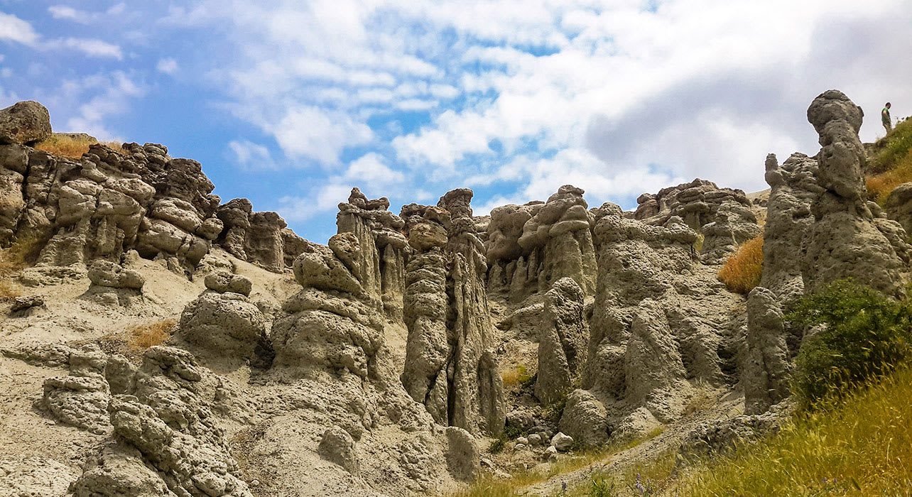 macedonia cliffs rock formations sky