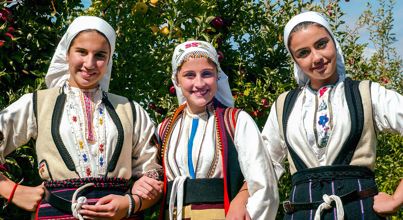 macedonia resen women in traditional clothing