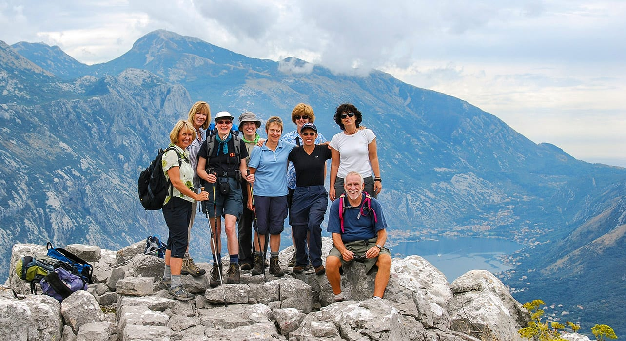 montenegro happy hikers view