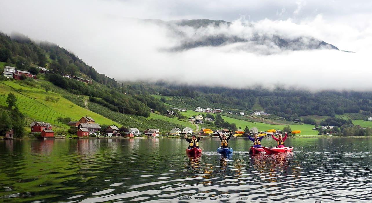 norway fjords kayaking group