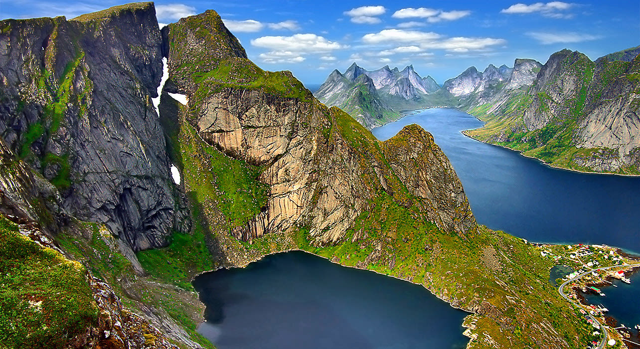 norway lofoten islands lake