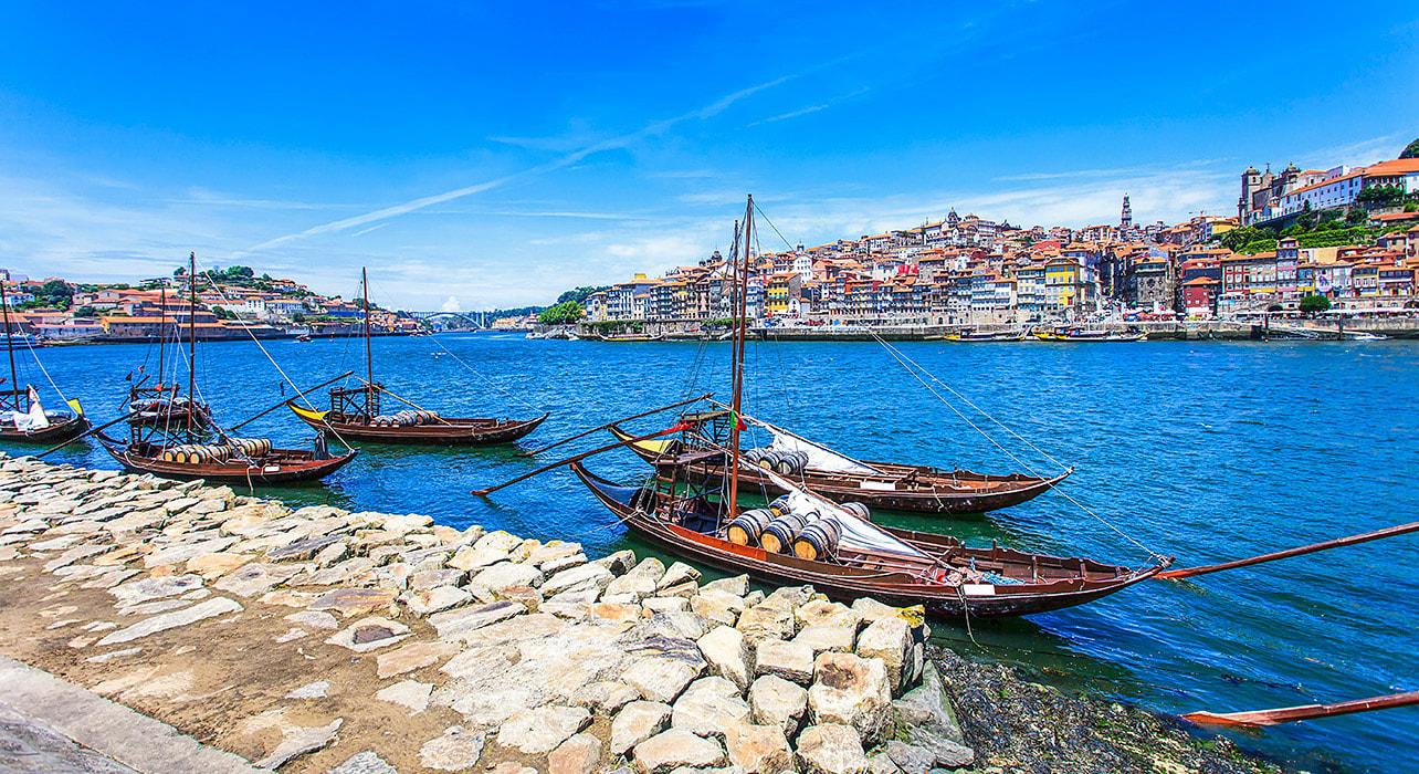 portugal boats village