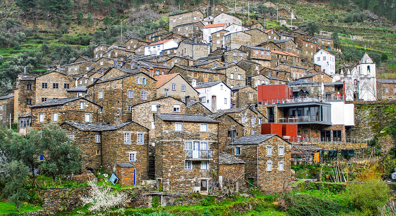 portugal mountainside town