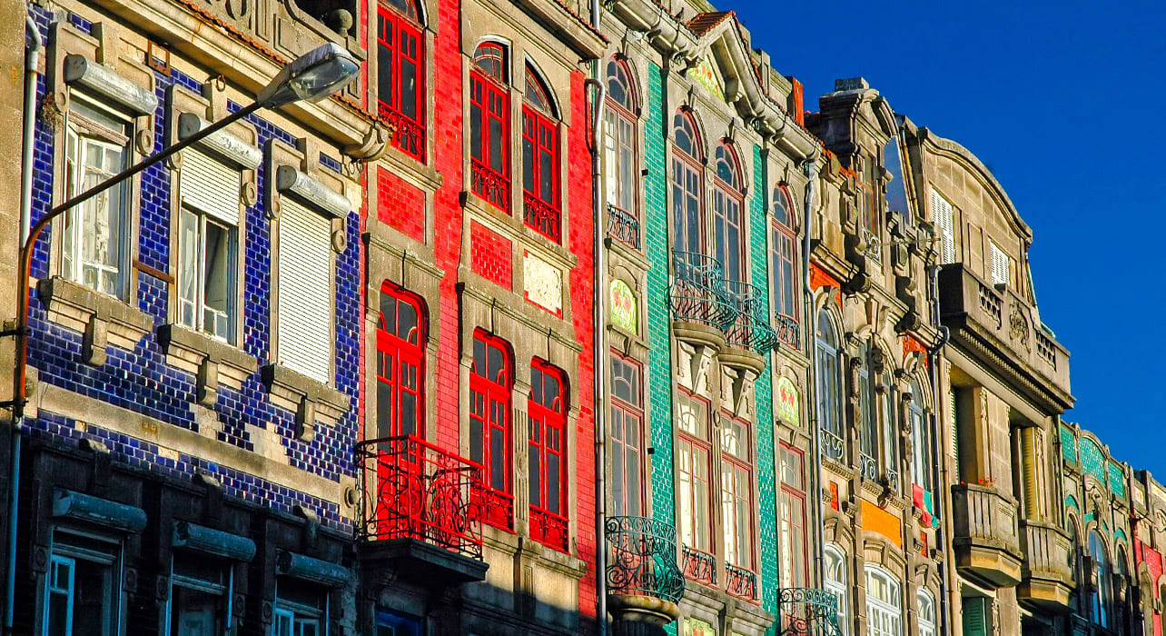 portugal porto building fronts