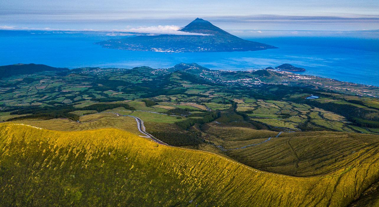 7 slide pico mountain faial island azores portugal pano