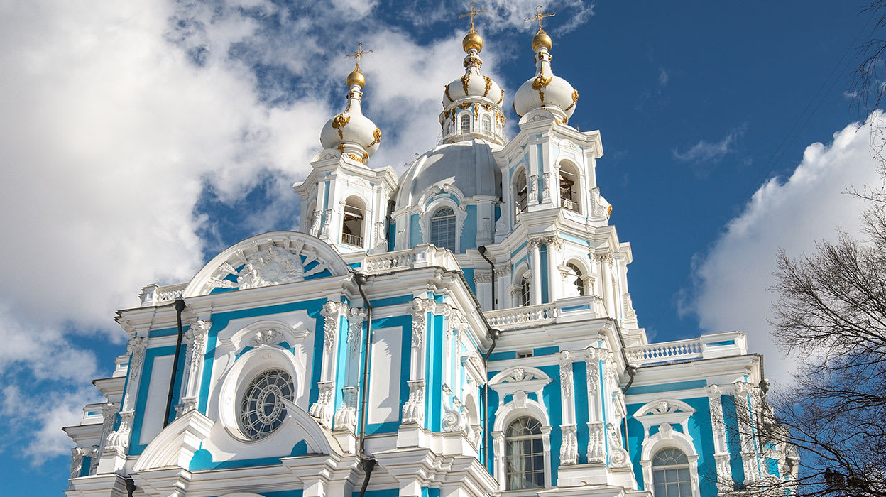 russia st petersburg smolny cathedral winter