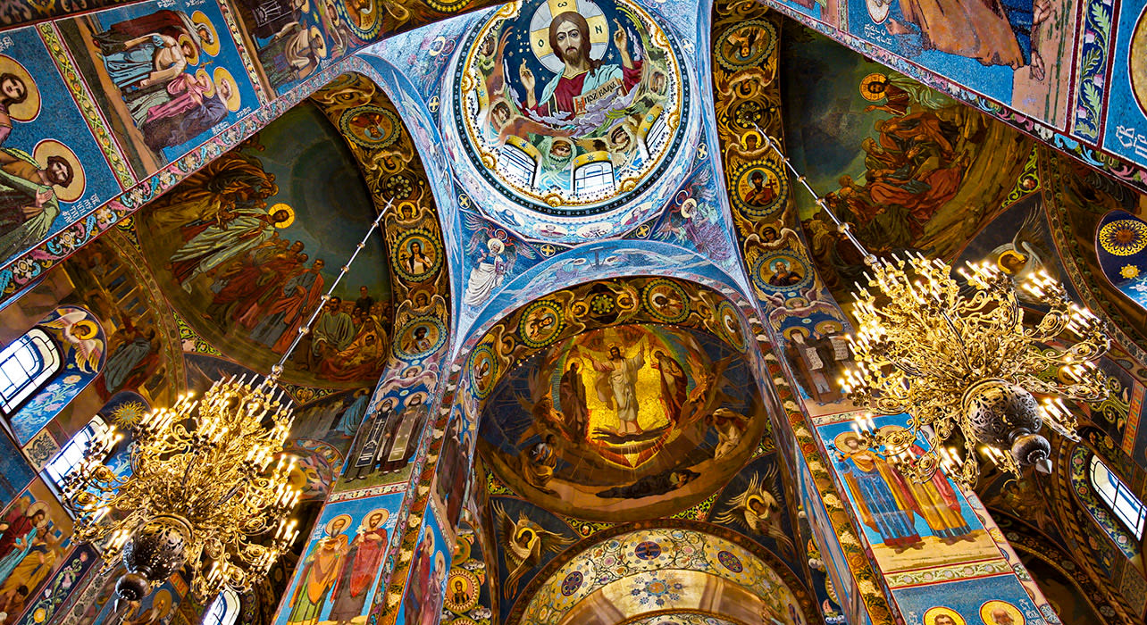st petersburg russia inside cathedral