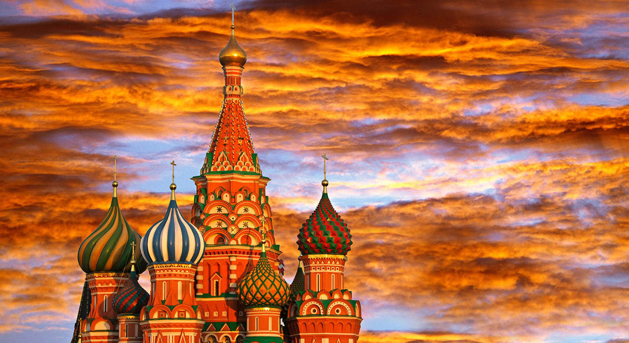 russia sunset moscow red square