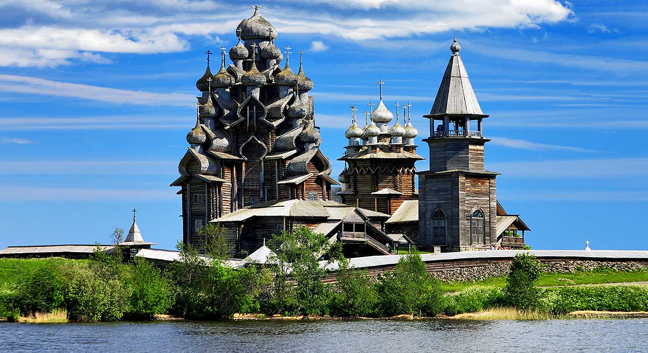 russia golden ring volga church traditional