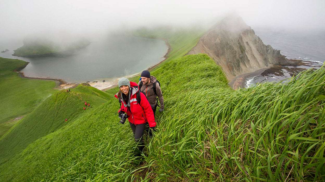 russian far east hiking above yankicha kuril islands