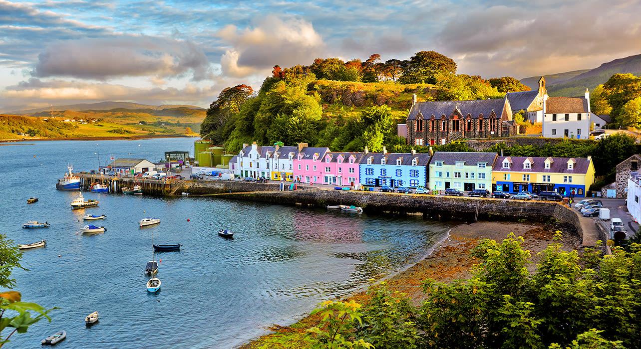 scotland portree isle of skye bay
