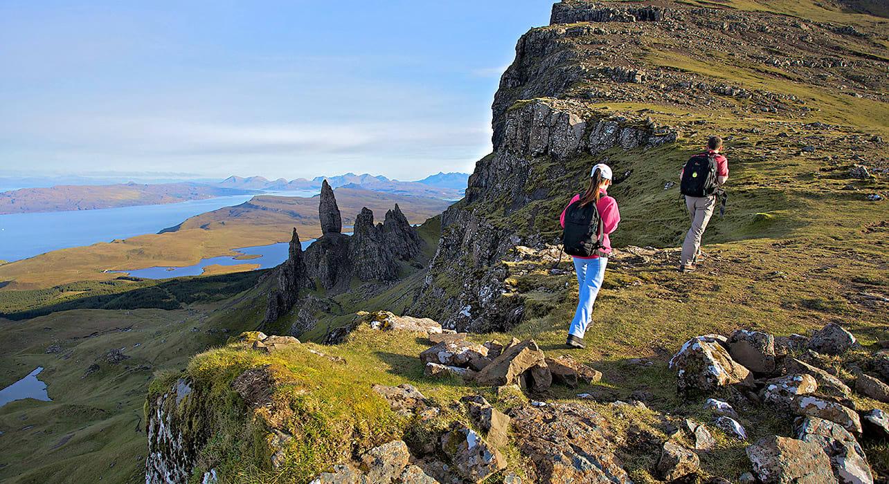 scotland isle of skye craggy highland
