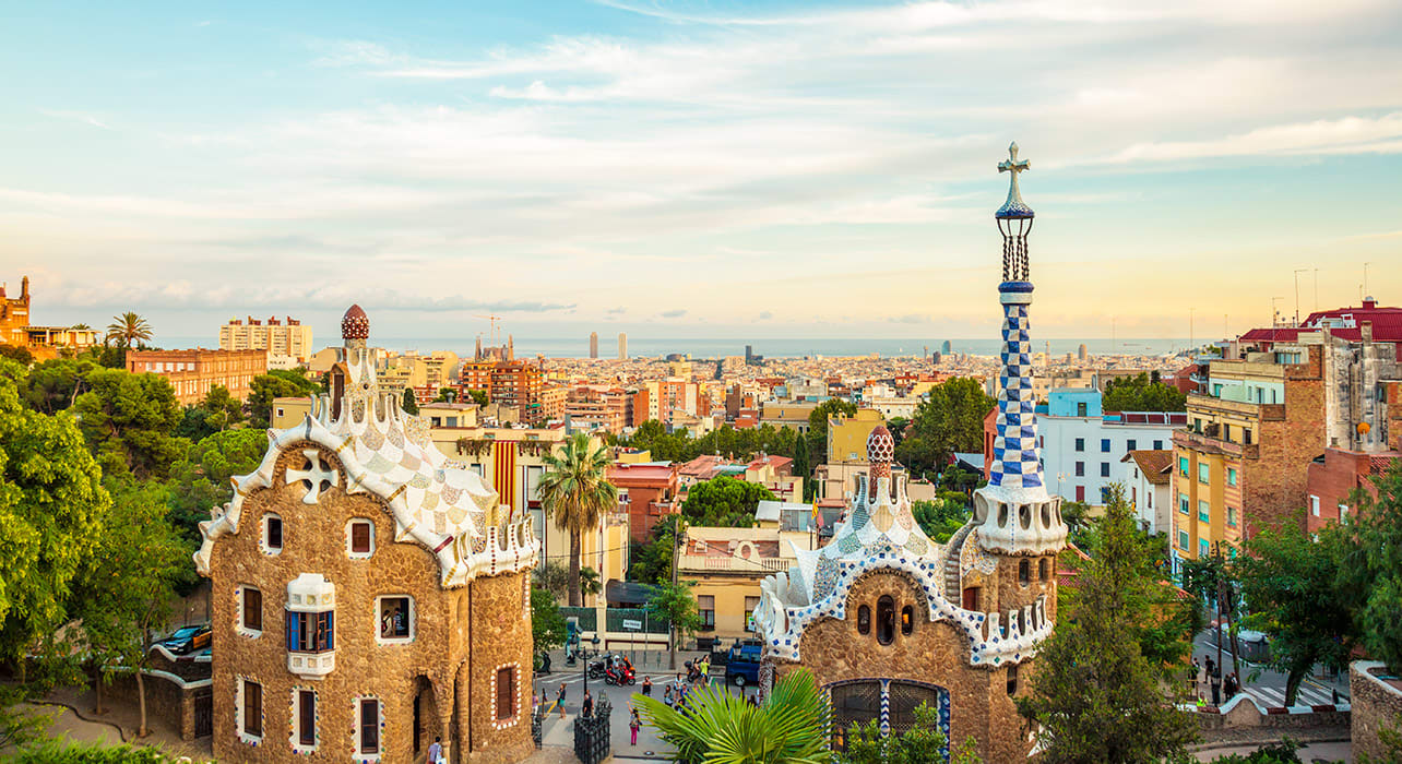 spain barcelona gaudi parc guell