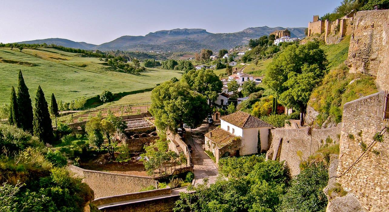 granada to sevilla view of town