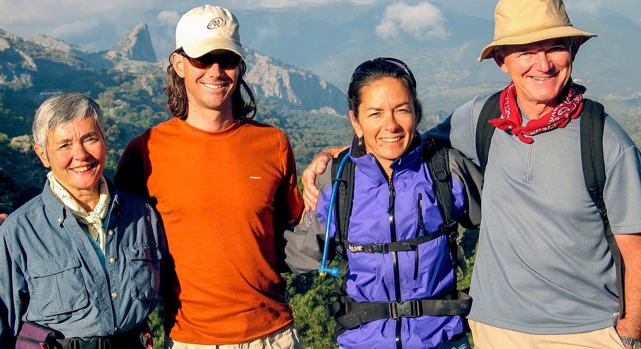 granada to sevilla hikers happy view