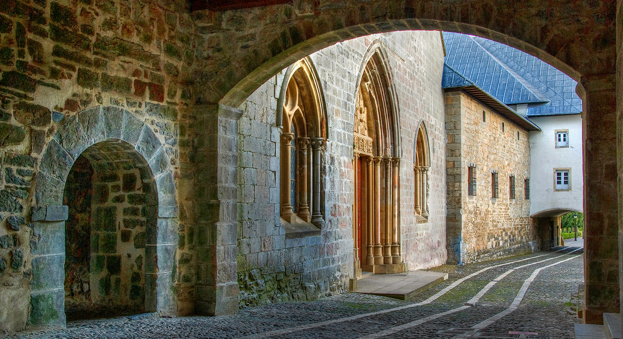 roncesvalles europe old architecture medieval
