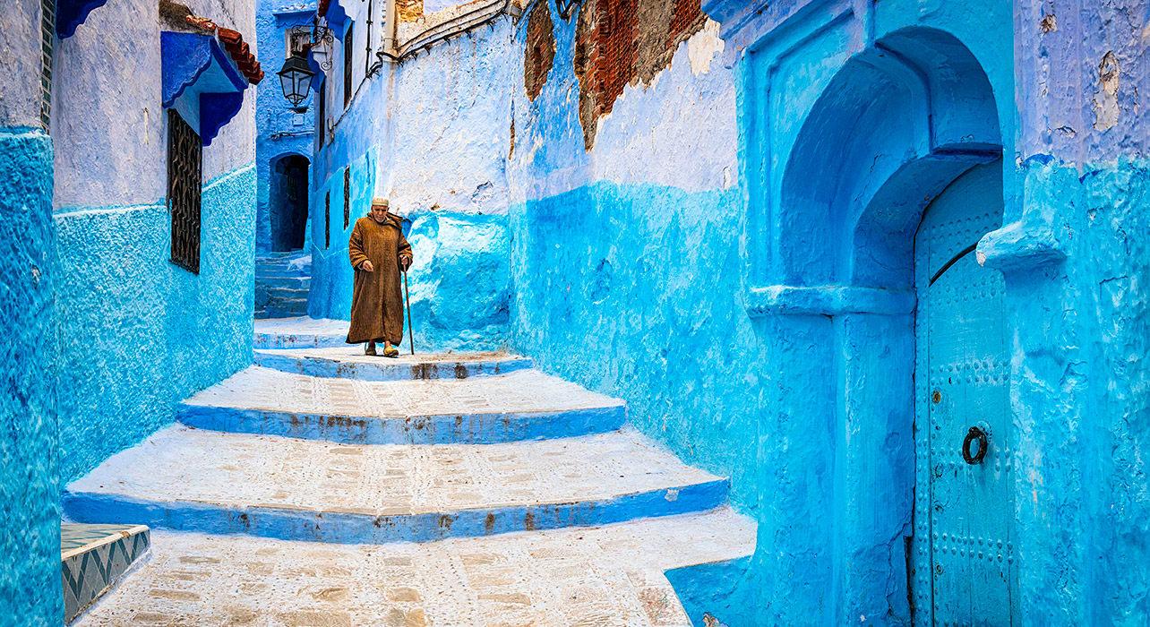 morocco chefchauen blue