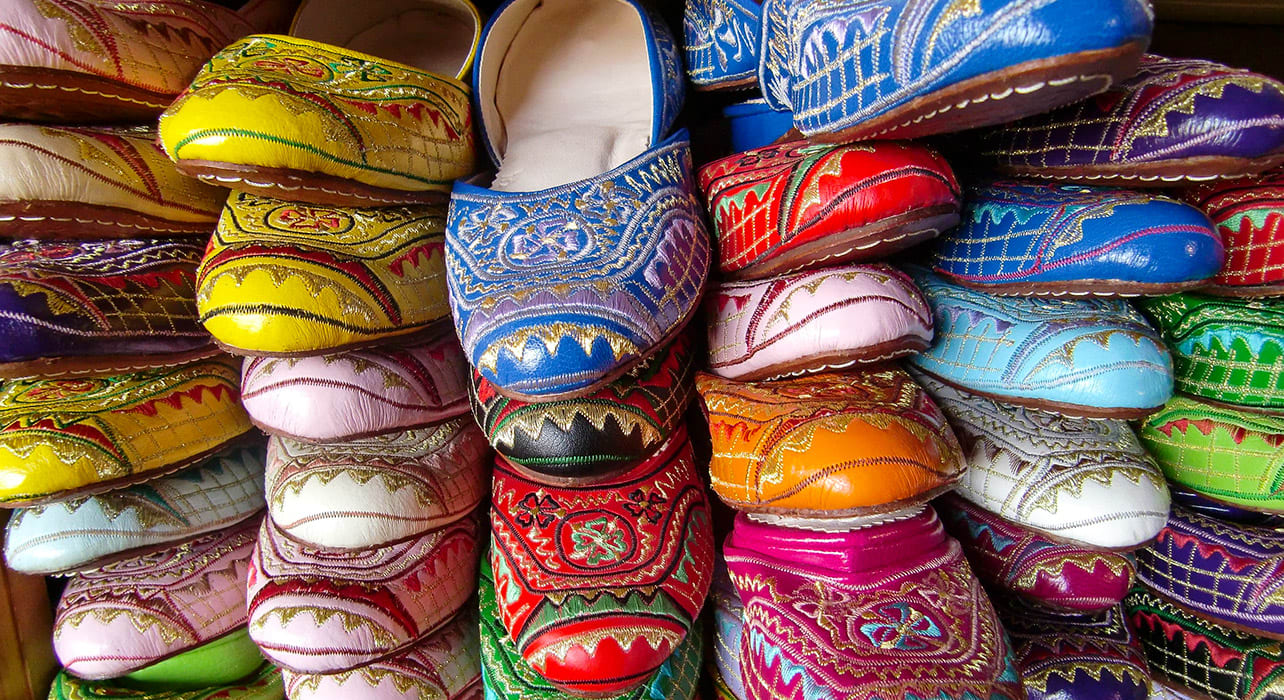 morocco shoes colorful traditional