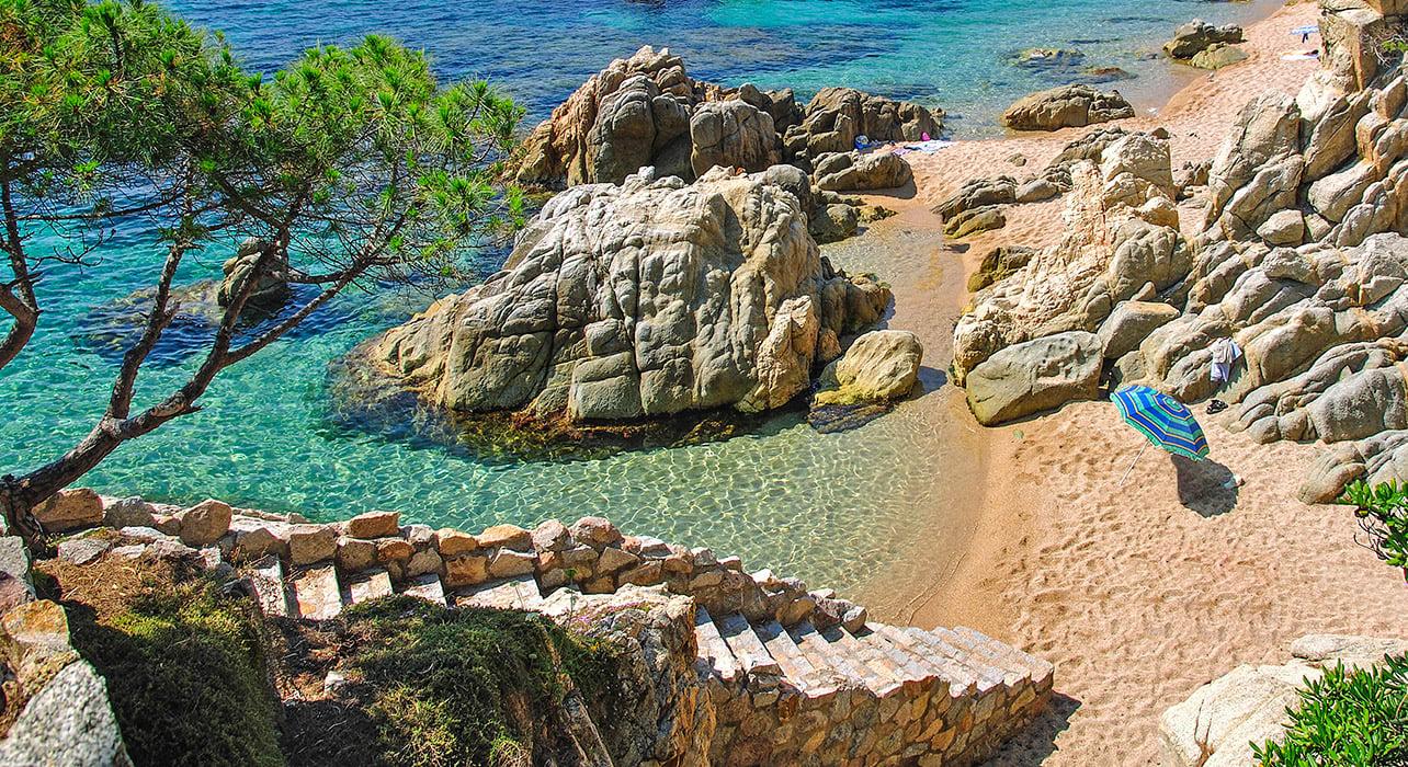 costa brava catalonia spain beach