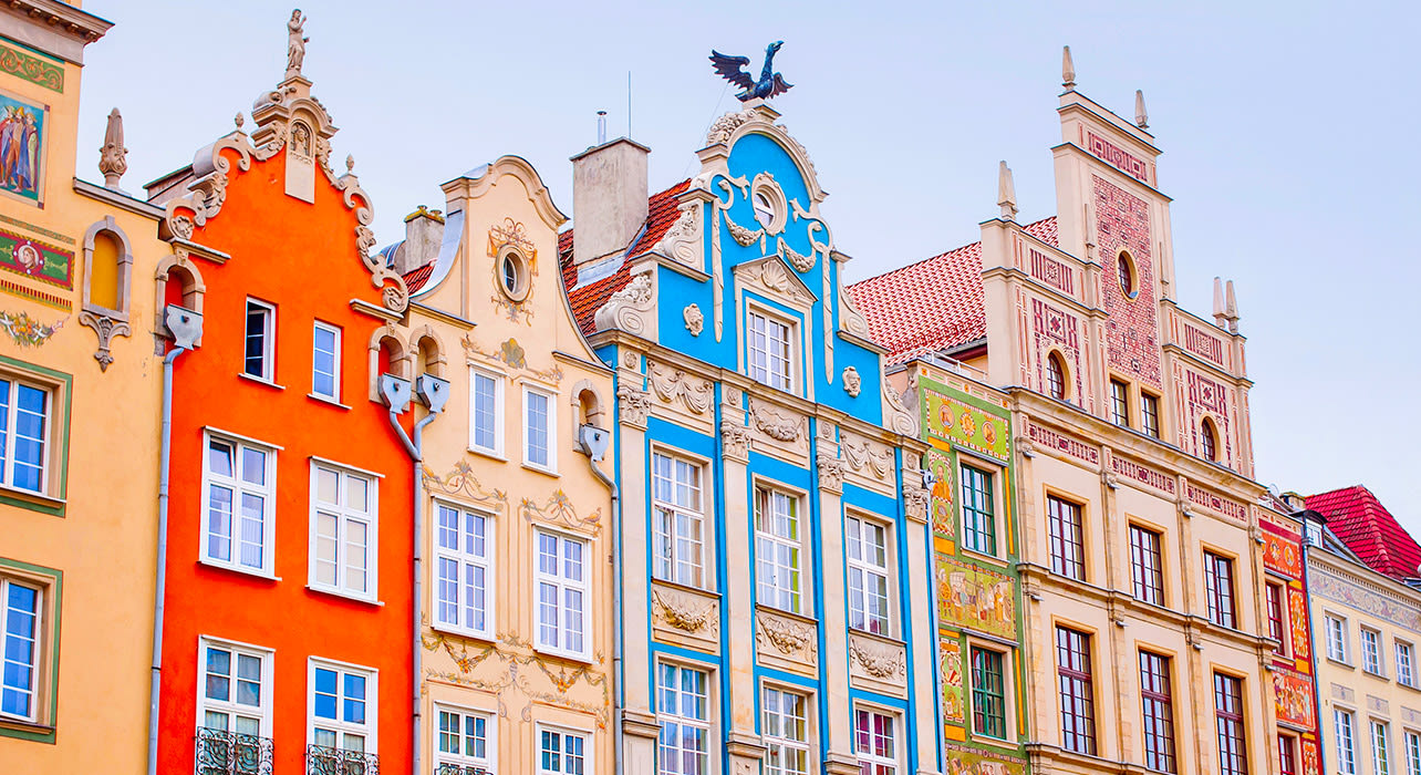gdansk poland colorful elaborate buildings