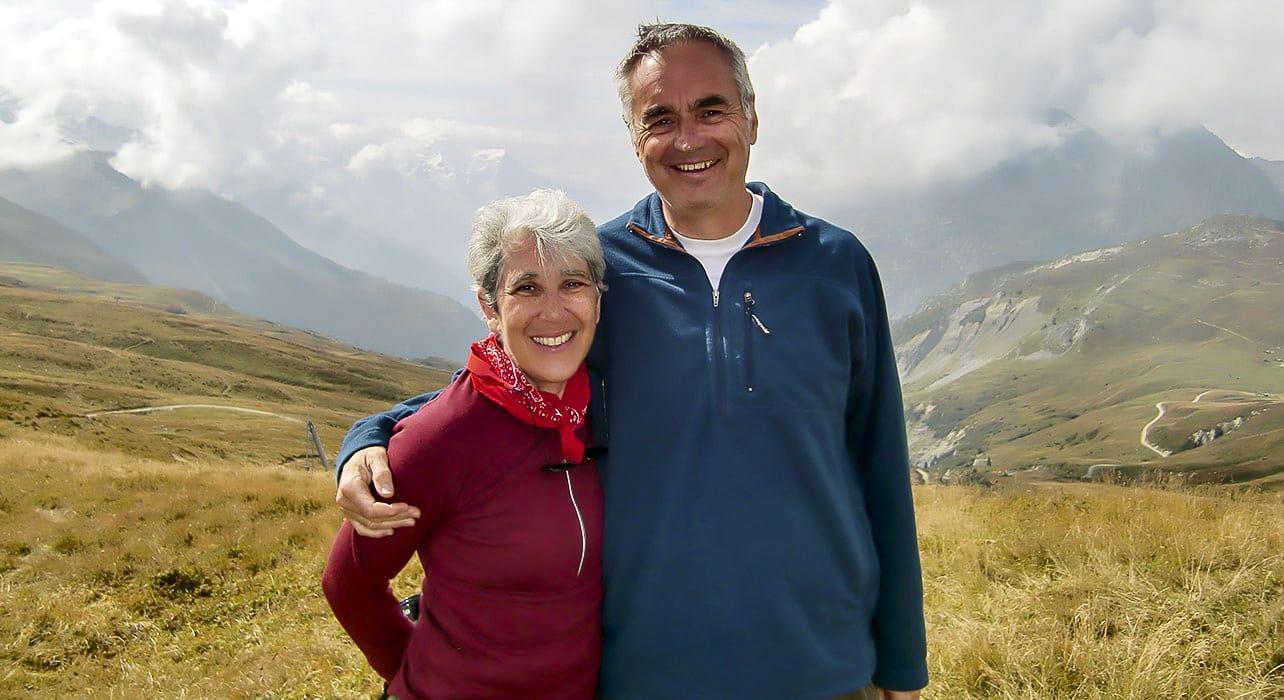 happy couple in switzerland